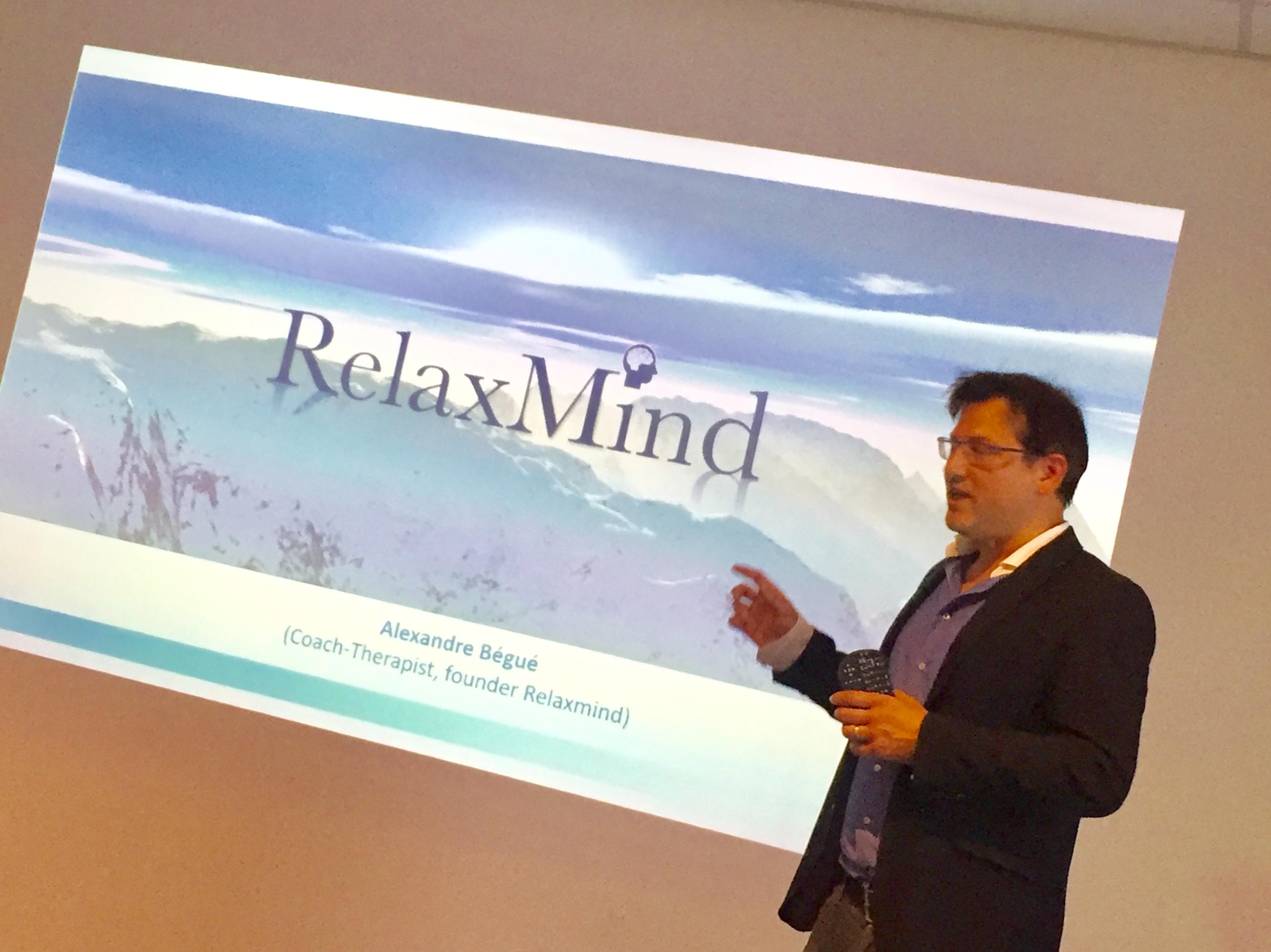 Alexandre Bégué, fondateur de RelaxMind lors des rencontres catalyse