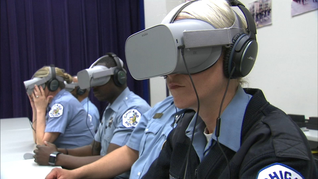 Formation en réalité virtuelle autour des maladies mentales pour la police de Chicago