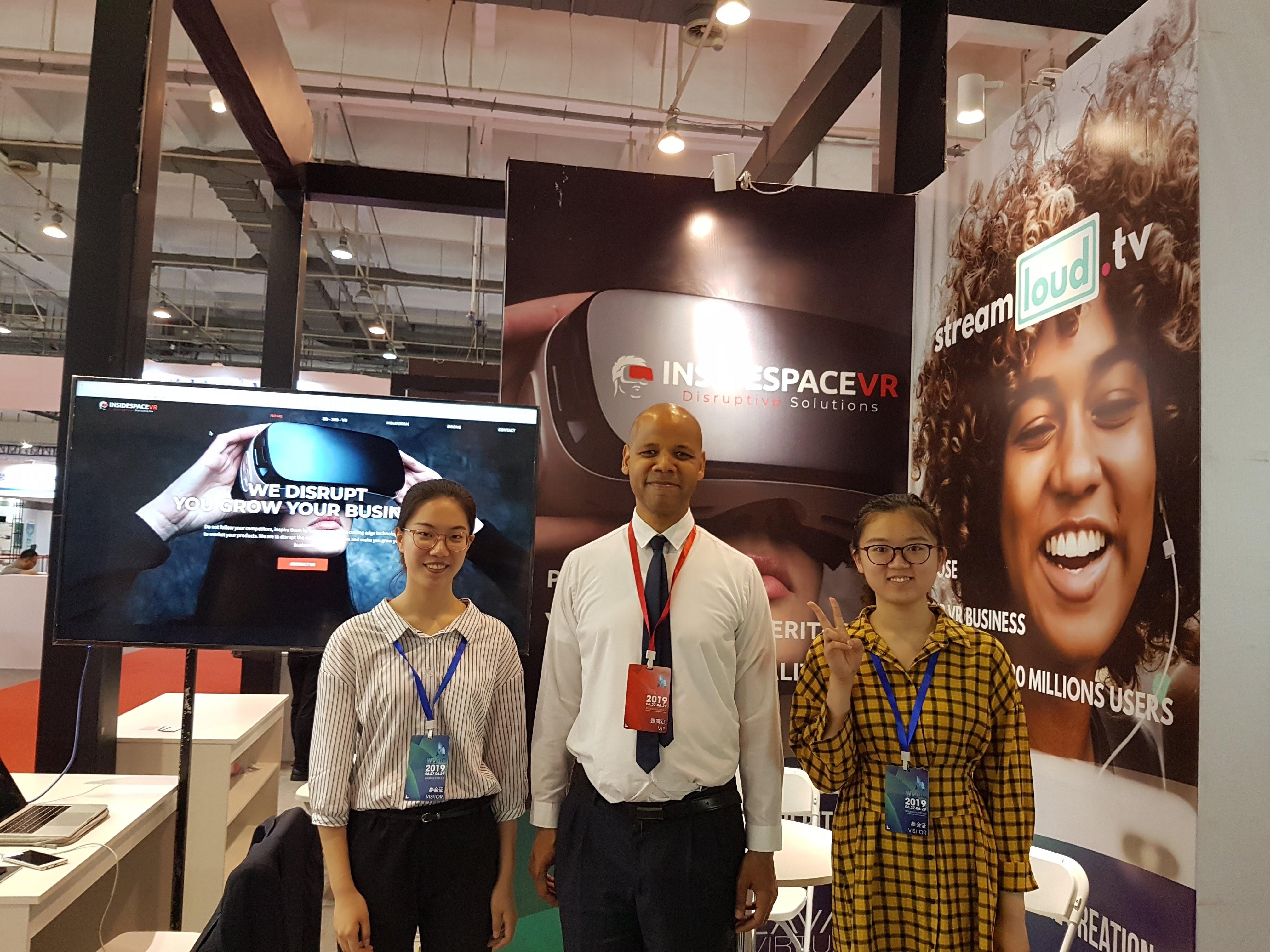 Stand d'InsidespaceVR à Laval Virtual Asia 2019, salon de la réalité virtuelle en Chine