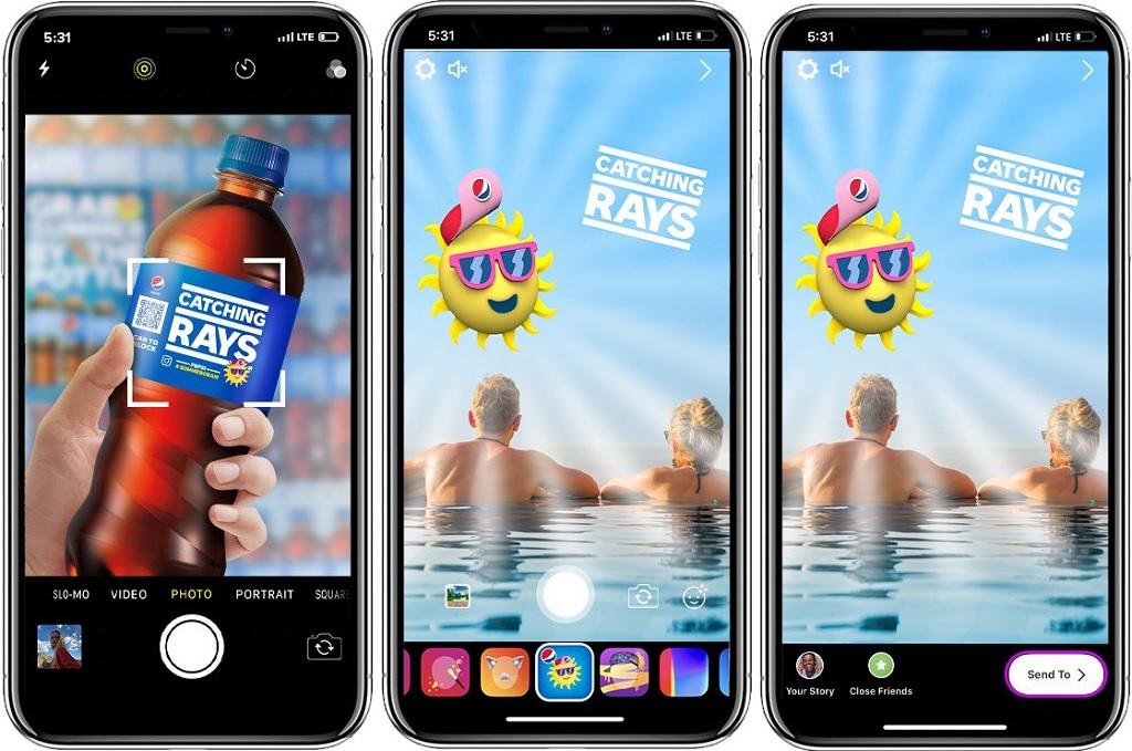 Filtres Instagram en réalité augmentée de Pepsi