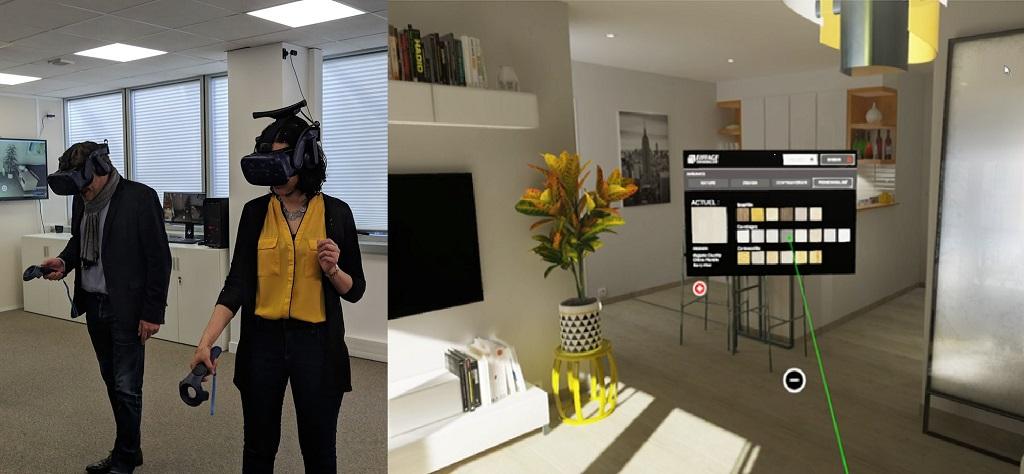Showroom Eiffage en réalité virtuelle dans l'immobilier