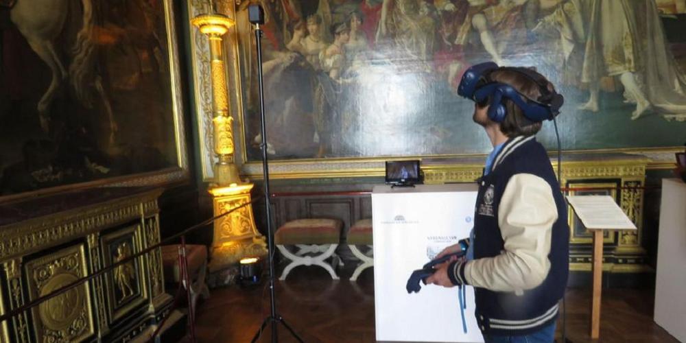 Visite en réalité virtuelle du château de Versailles