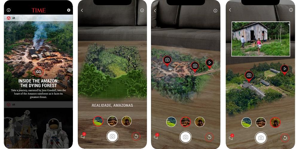 Vue de la forêt amazonienne en réalité augmentée