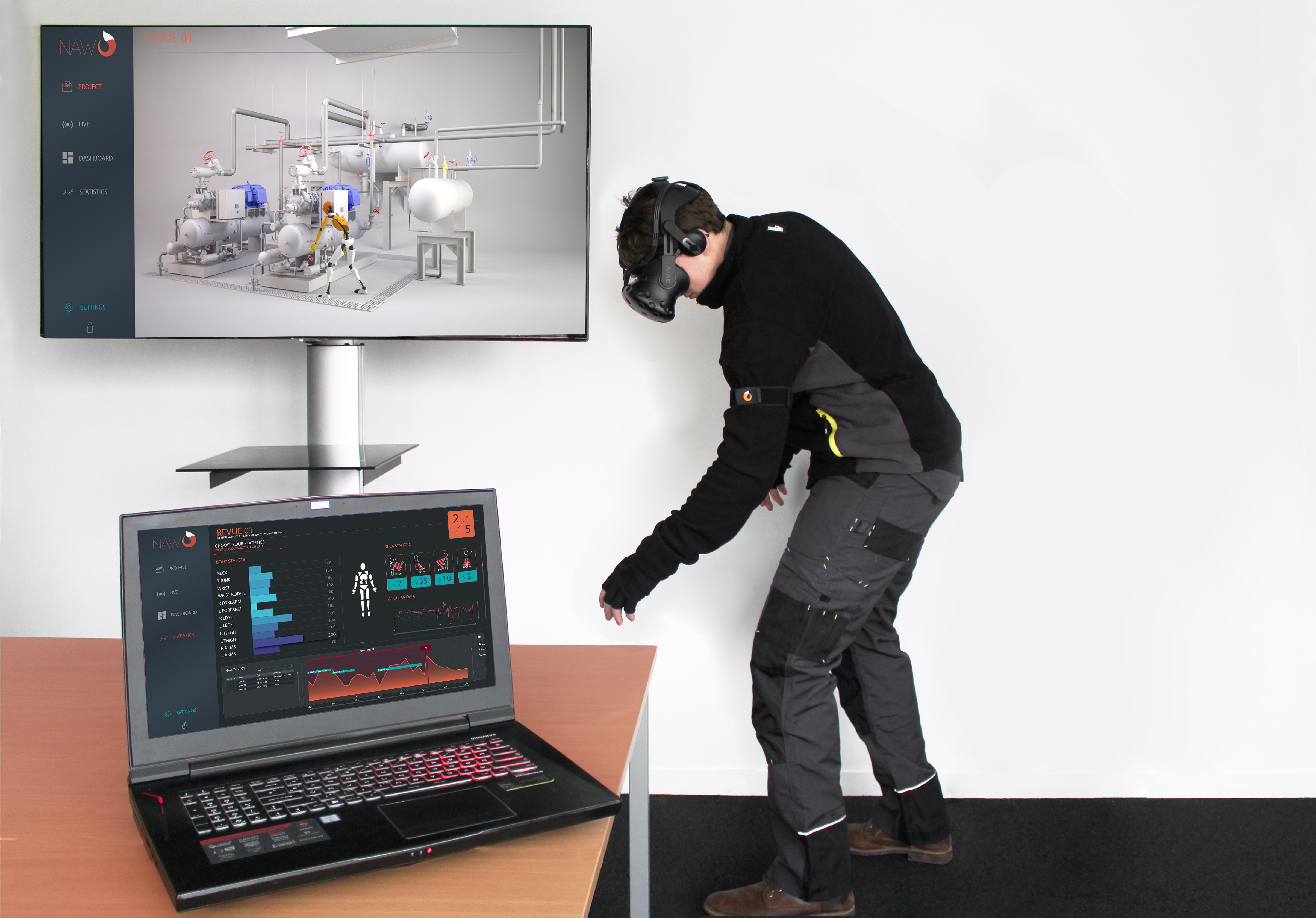 La solution Nawo de HRV Simulation pour l'ergonomie au travail qui a gagné un Laval Virtual Awards 2019