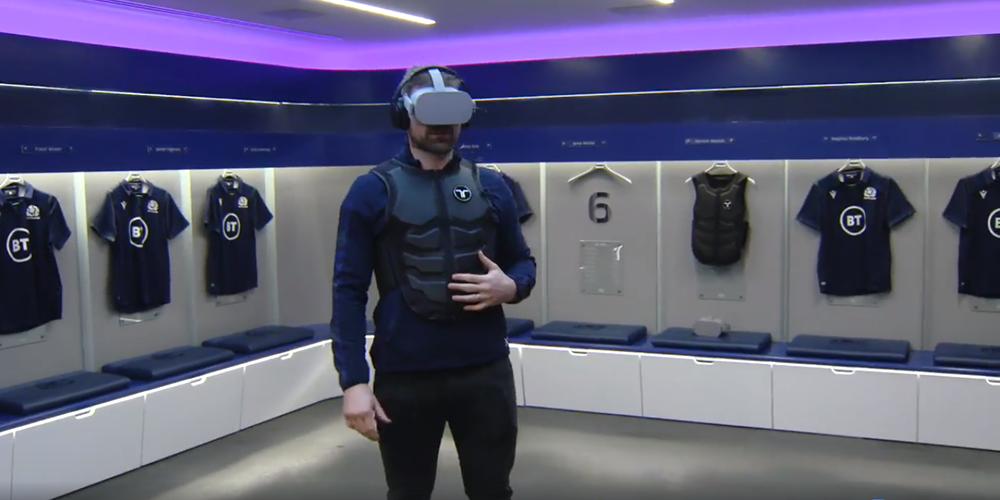 L'équipe d'Ecosse de rugby utilise la réalité virtuelle et l'haptique pour ses entrainements