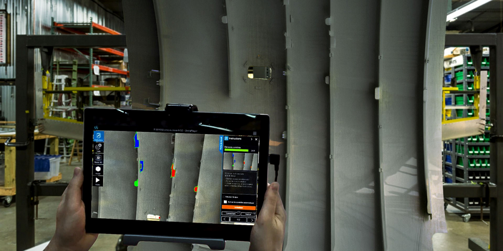 Application de réalité augmentée pour le contrôle qualité en industrie aéronautique