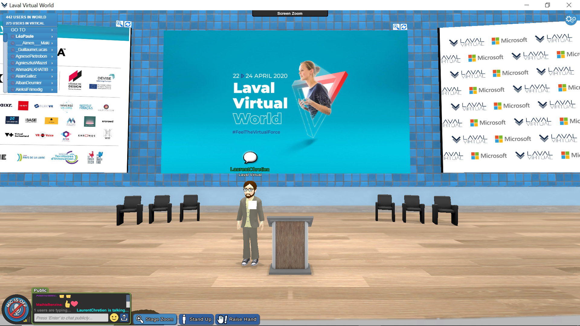 Laurent Chrétien in the Laval Virtual World