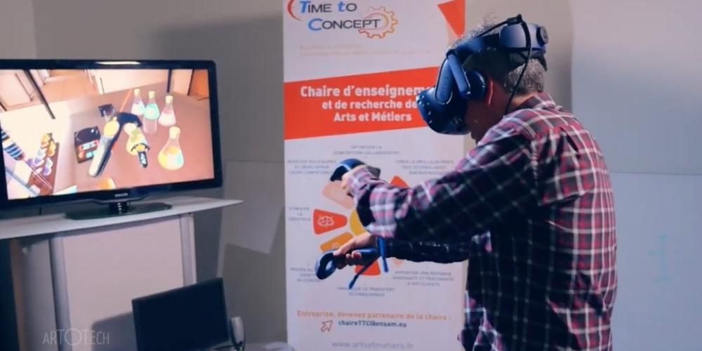 Pratique la chimie sans risques en réalité virtuelle