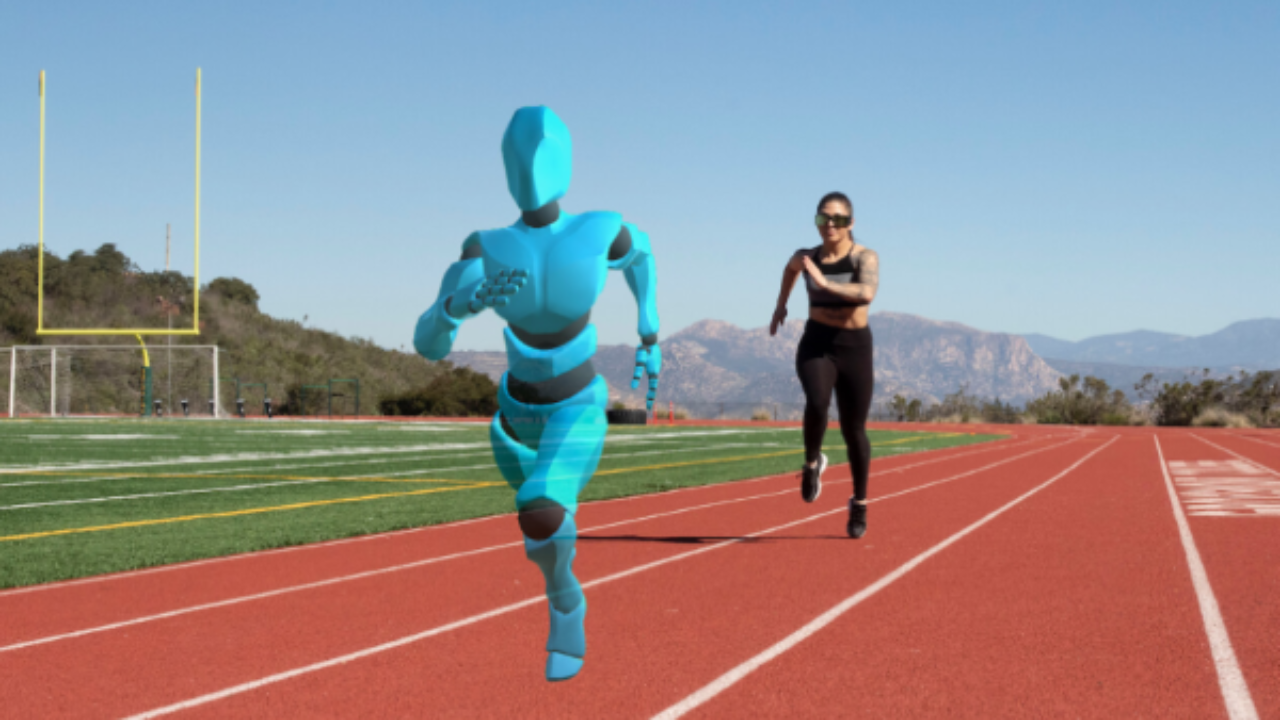 Ghost Pacer, a running companion in augmented reality