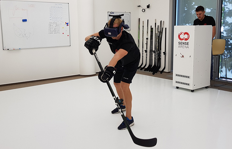 Préparation mentale pour les équipes de hockey en réalité virtuelle