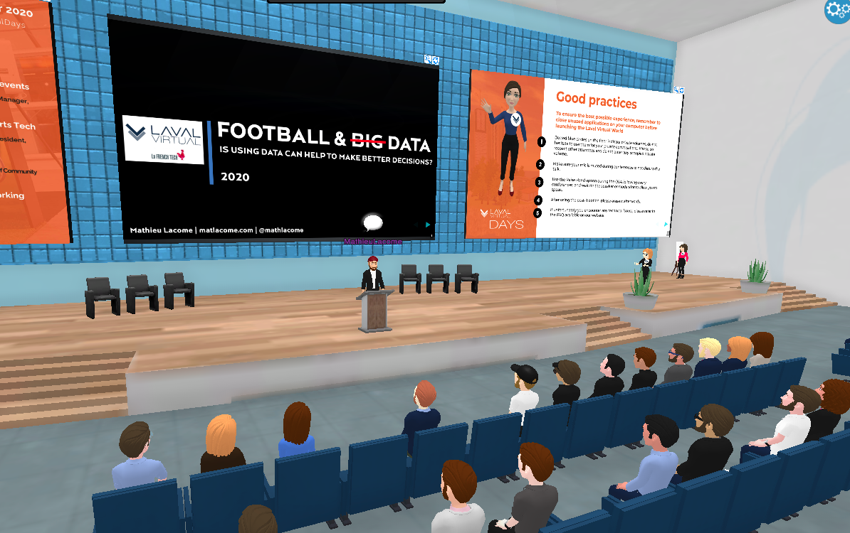 Laval Virtual Days about virtual reality in sports