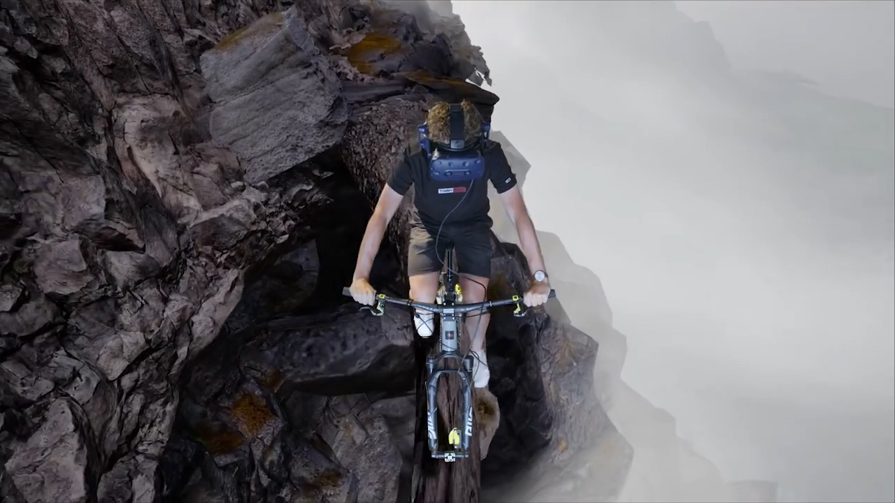 A VR experience of mountain bike