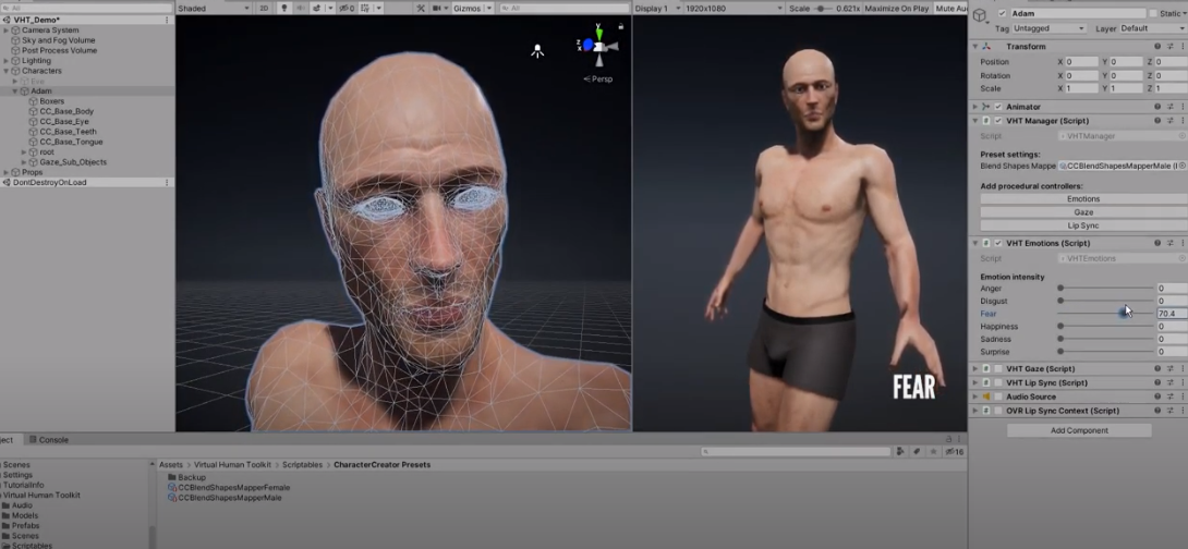 A toolbox for the animation of avatars in virtual reality
