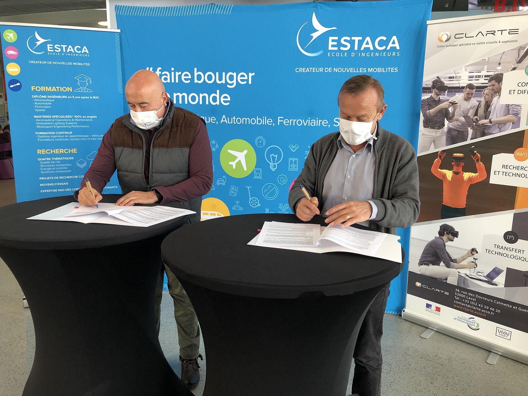 Signature of the partnership between ESTACA and CLARTE