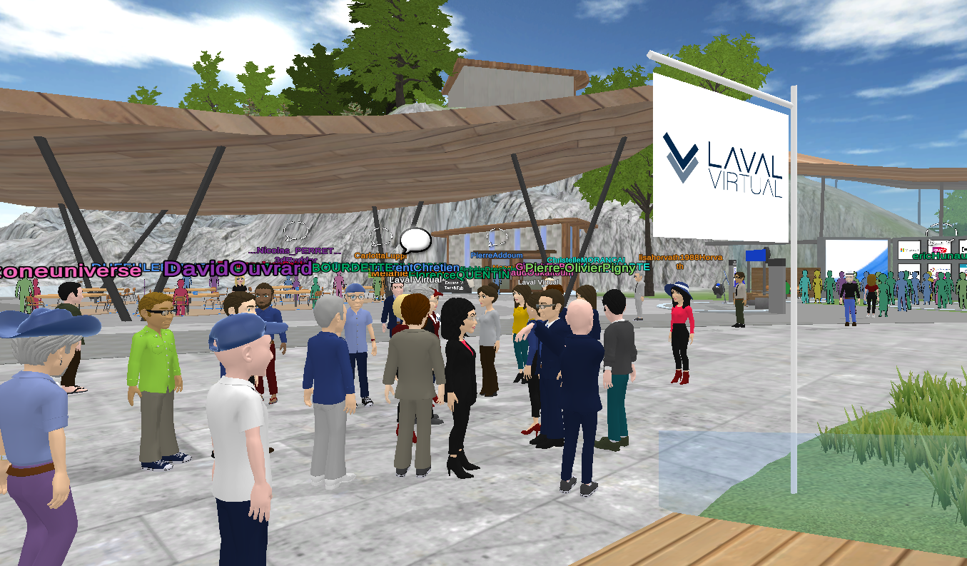The Laval Virtual Worlds welcomed 45,000 avatars and many international events