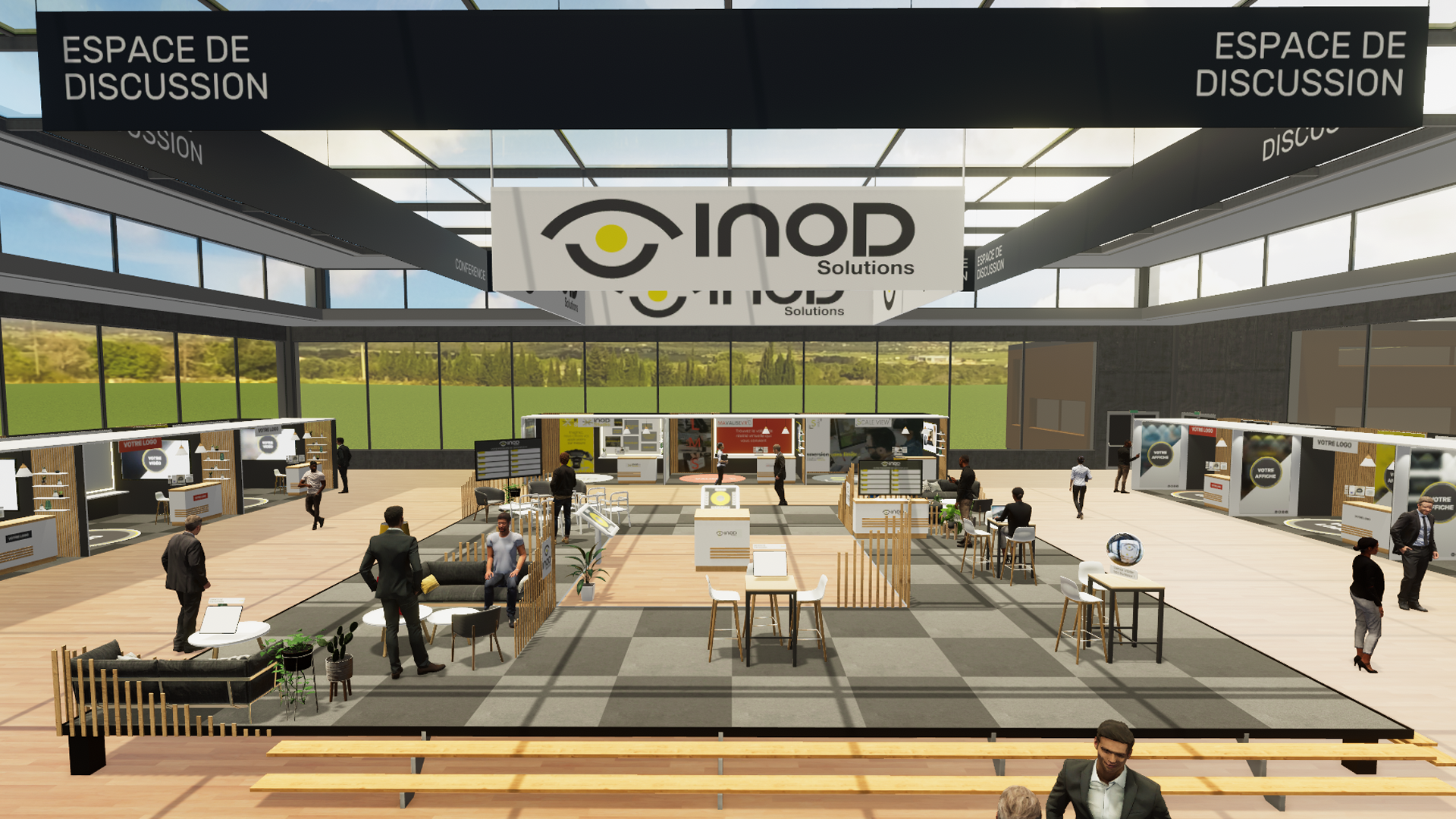 Inod's solution for organizing virtual events and professional fairs