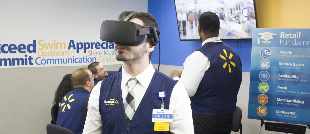 Walmart trains its employees with virtual reality headsets