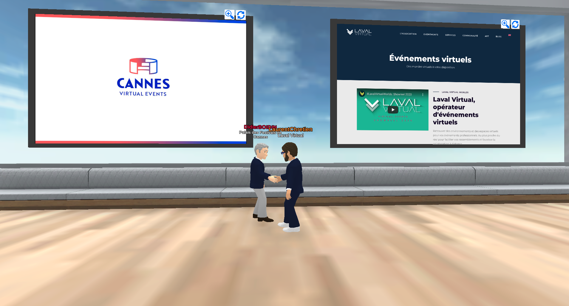 The Palais des Festivals of Cannes joins forces with Laval Virtual to organise virtual events