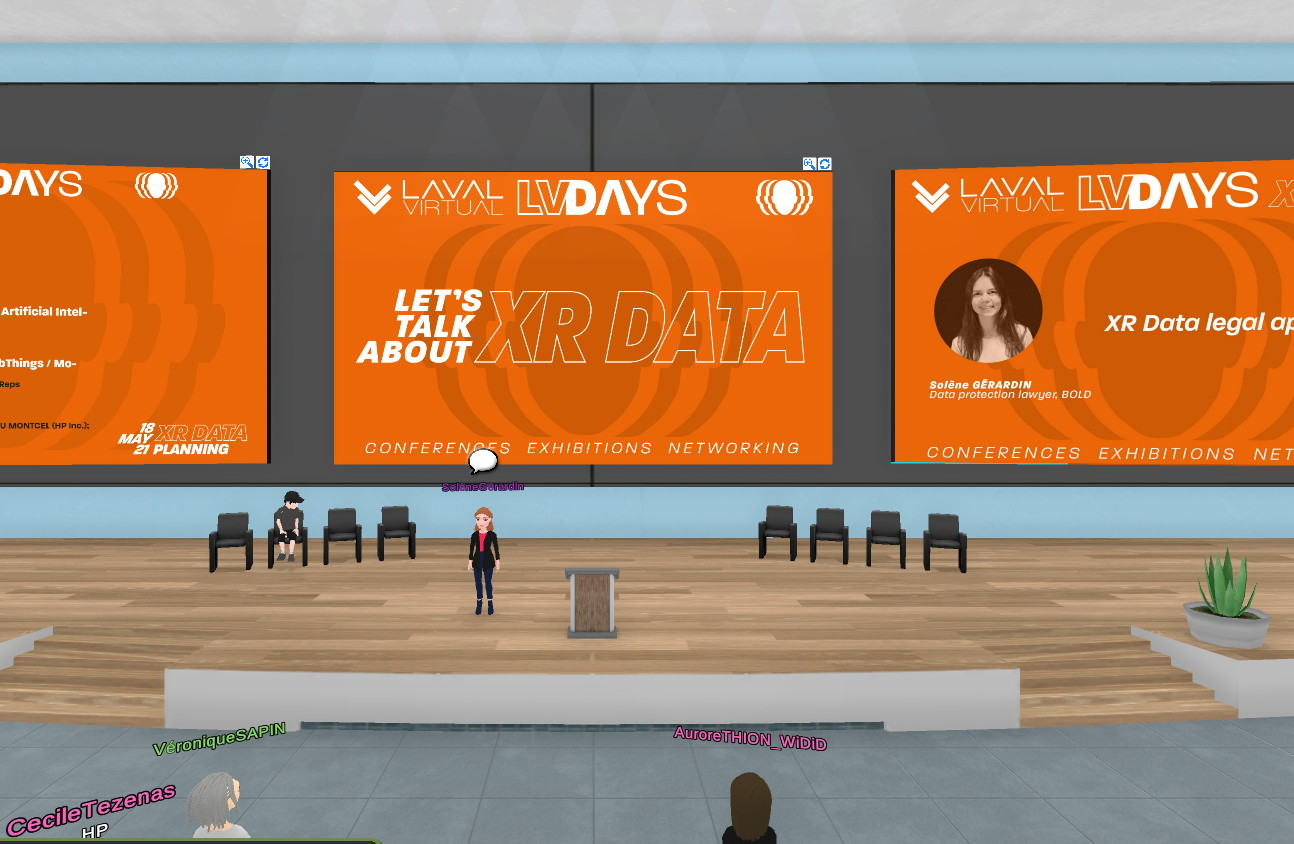 Laval Virtual Days XR Data: how to use data in virtual reality?